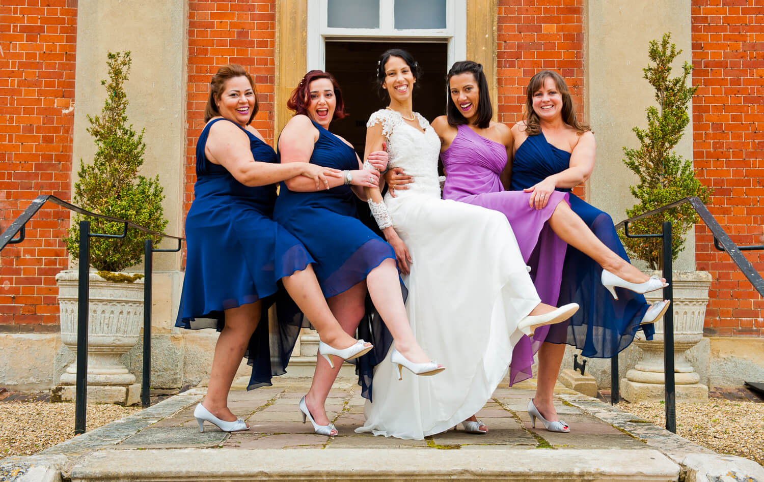 Bride with his friends